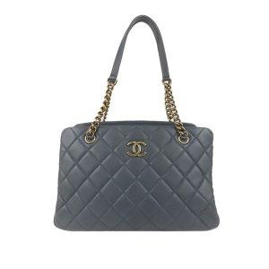 Chanel Shoulder Bag blue leather
