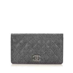 Chanel Portemonnee zilver Leer