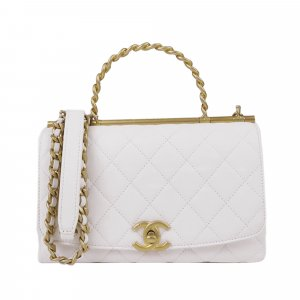 Chanel Tornister biały Skóra