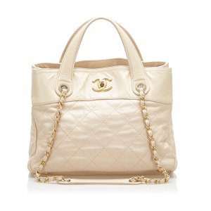 Chanel Satchel beige leather
