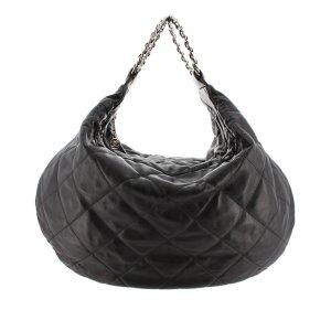 Chanel Sac hobo noir cuir