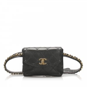 Chanel Matelasse Lambskin Leather Belt Bag