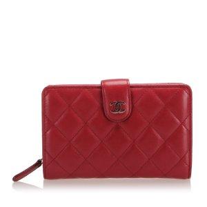 Chanel Matelasse Lambskin Leather French Wallet