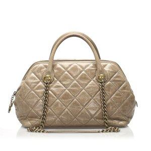 Chanel Tornister khaki Skóra