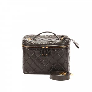 Chanel Make-up Kit dark brown leather