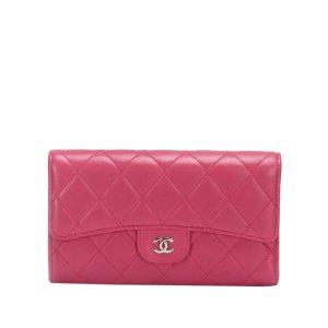 Chanel Portemonnee rosé Leer