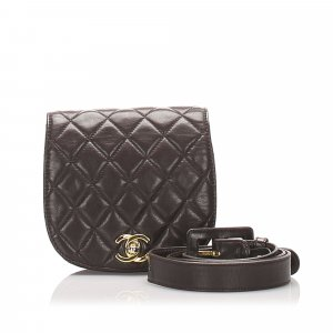 Chanel Marsupio marrone scuro Pelle