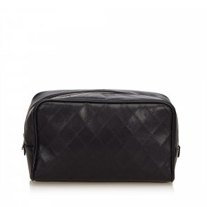 Chanel Pochette noir cuir