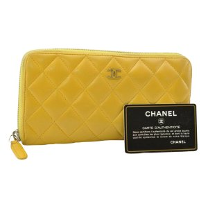 Chanel Wallet yellow leather