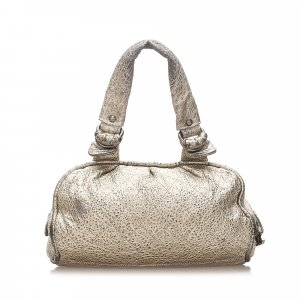 Chanel Matelasse Metallic Leather Shoulder Bag