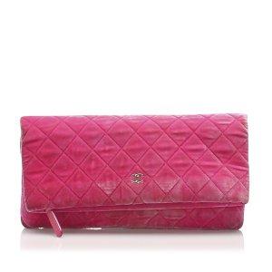 Chanel Matelasse Velour Clutch Bag