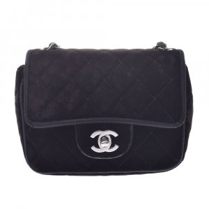 Chanel Shoulder Bag black textile fiber