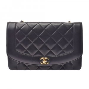 Chanel Shoulder Bag black leather