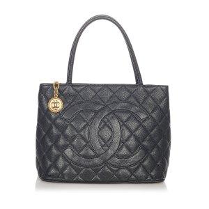Chanel Tote zwart Leer