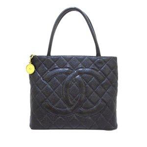 Chanel Sac fourre-tout noir cuir