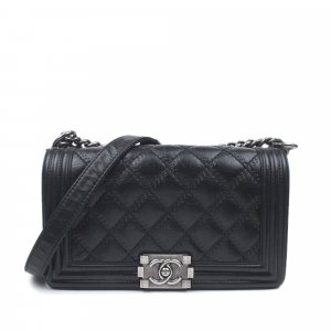 Chanel Medium Boy Lambskin Leather Flap Bag