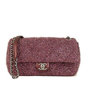 Chanel Medium Classic Glitter Wool Flap Bag