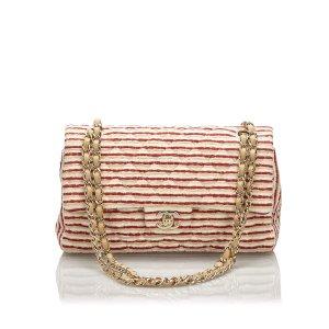 Chanel Bolsa de hombro rojo Algodón