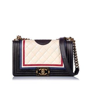 Chanel Medium Crest-Embellished Boy Bag