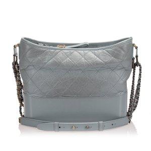 Chanel Schoudertas zilver Leer