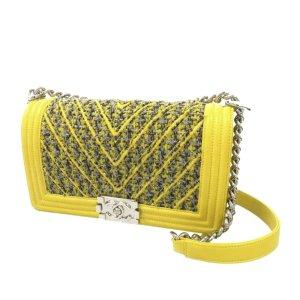 Chanel Borsa a spalla giallo Lana