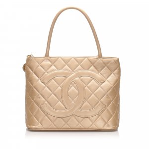 Chanel Metallic Medallion Lambskin Leather Tote Bag