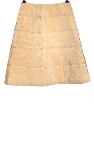 Chanel Midirock blassgelb Steppmuster Casual-Look