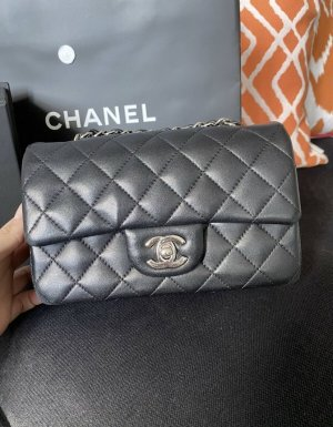 Chanel Shoulder Bag black-silver-colored