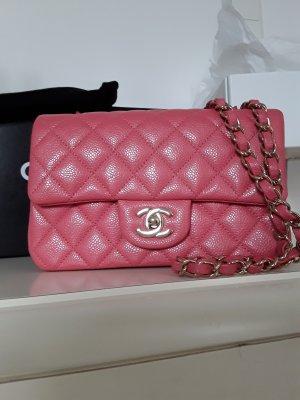 Chanel Gekruiste tas roze Leer