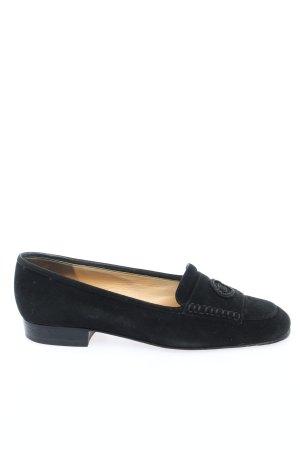 Chanel Mokasyny czarny W stylu casual