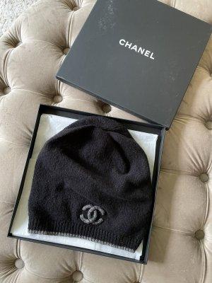 Chanel Gebreide Muts zwart-zilver