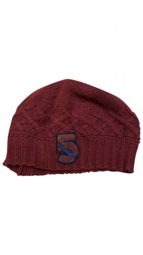 Chanel Chapeau en tricot bordeau