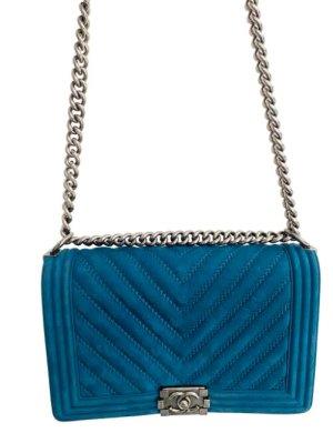 Chanel Shoulder Bag blue suede