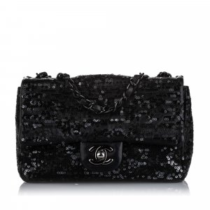 Chanel New Mini Sequined Single Flap Bag