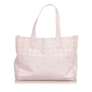 Chanel Borsa larga rosa chiaro Nylon