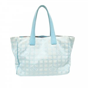 Chanel Bolso de compra azul Nailon