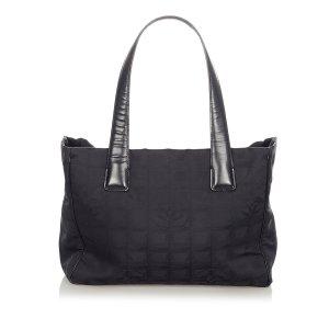 Chanel Bolso de compra negro Nailon