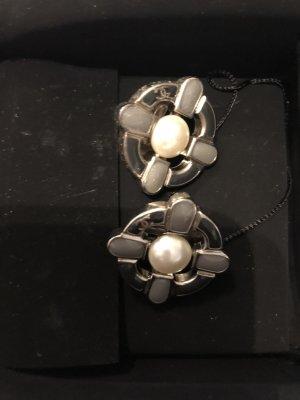 Chanel Oorclips zilver