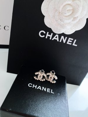 Chanel Earclip silver-colored