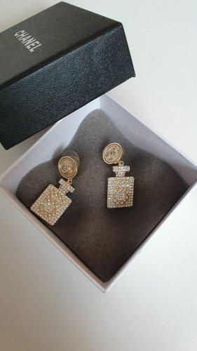 Chanel Pendientes colgante color oro metal