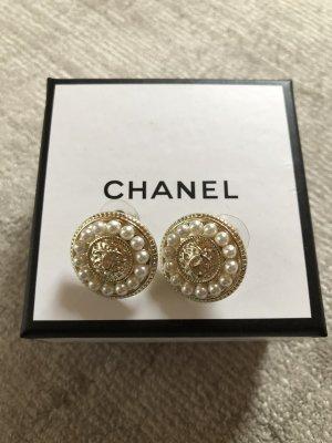 Chanel Kolczyk ze sztyftem złoto