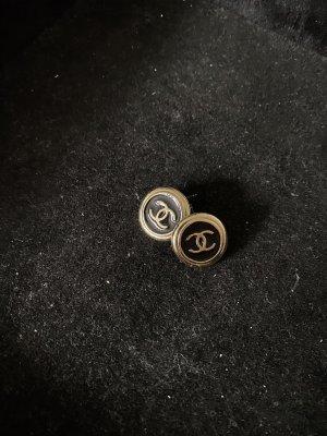 Chanel Pendientes de oro negro-color oro