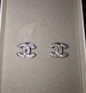 Chanel Kolczyk ze sztyftem srebrny