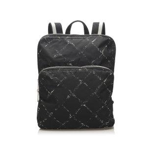 Chanel Old Travel Line Nylon Backpack