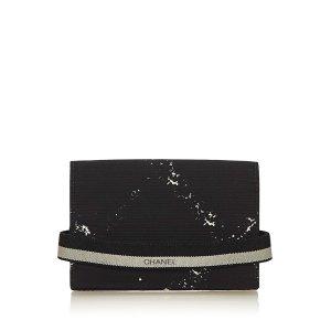 Chanel Porte-cartes noir nylon