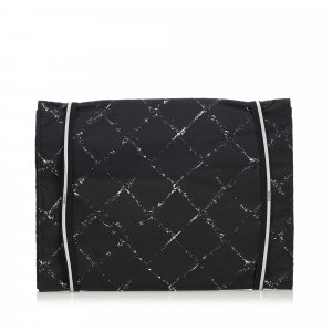 Chanel Clutch zwart Nylon