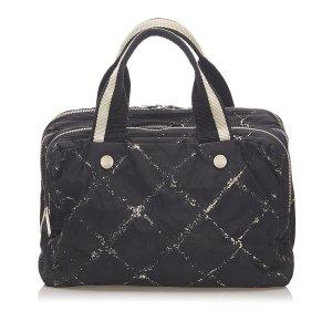 Chanel Sac à main noir nylon