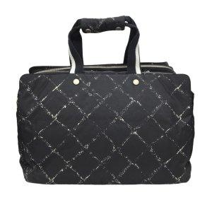 Chanel Sac de voyage noir nylon