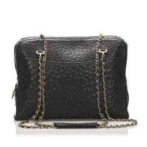 Chanel Ostrich Leather Shoulder Bag