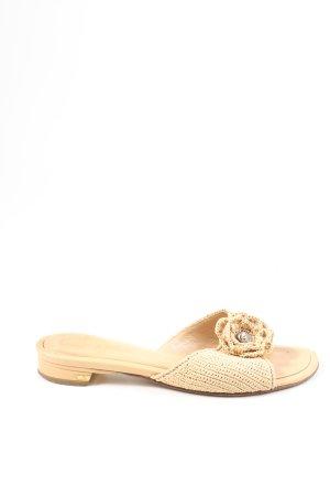 Chanel Outdoor-Sandalen wollweiß Blumenmuster Casual-Look